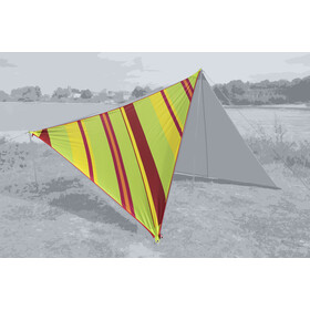 Bent Canvas Voile solaire Caribbean, stripe lime punch/zipper red